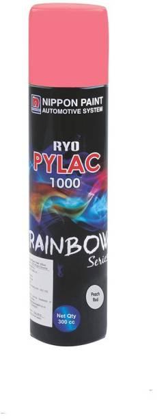Nippon Paint Ryo Pylac 1000 Rainbow Series Spray Paint, Peach Red 300ml Peach Red Spray Paint 300 ml