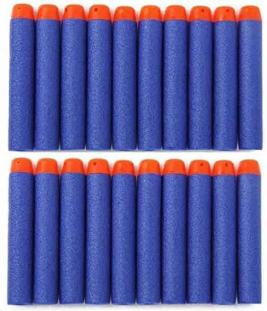 stickonn (Pack of 20) Blue Bullet Foam Dart Bullets for Elite Guns, Guns & Darts (Blue) Darts & Plastic Bullets