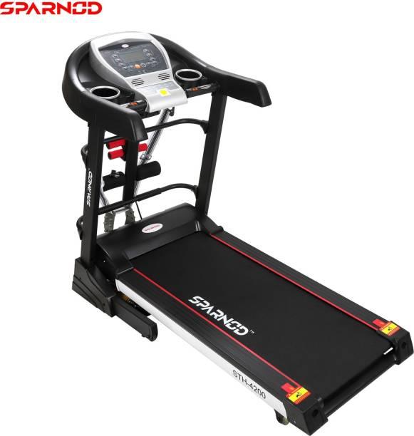 Sparnod Fitness STH-4200 (4.5 HP PEAK) (DIY Installation) Multifunction Motorized Treadmill for Home Use Treadmill
