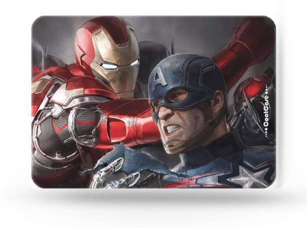COATCASE MPIM-03 Marvel Civil War Captain America Iron man Superhero Printed Rubber Base with Anti Skid Feature for Computer and Laptop Designer Gaming Mouse pad Mousepad