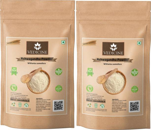 VEDICINE Ashwagandha Powder 200 grams (Withania somnifera) Powder