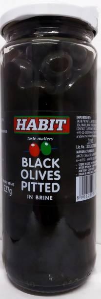 HABIT Black Olives Pitted in Brine (2 x 440g) Olives