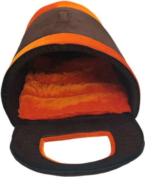 Dogerman Luxurious Cave Shape Velvet Bed For Toy Dogs & Cats L Pet Bed