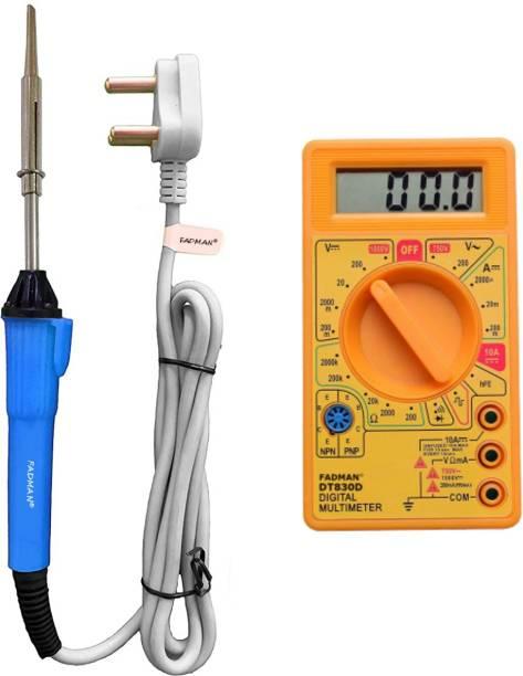 FADMAN Beginner Basic Soldering Iron Kit Pack-2   Digital Multimeter  Soldering iron 25 W Simple