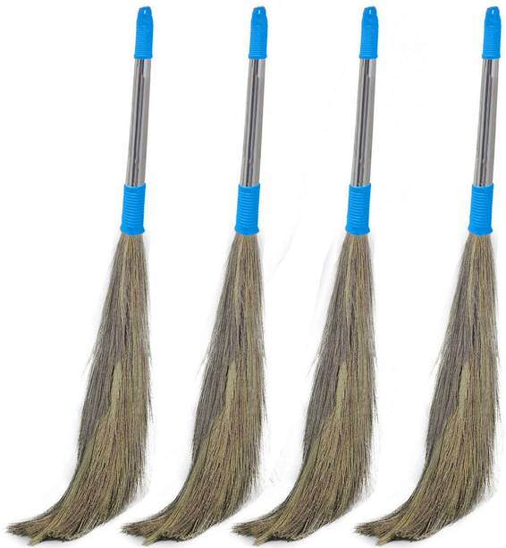Bonbella Floor Cleaning Broom Grass Dry Broom