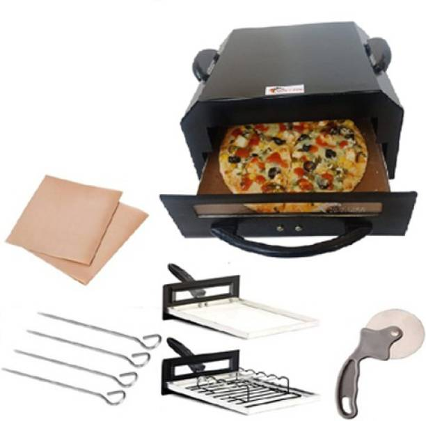 HOT LIFE Smart Looking High Quality Steel Element 1500W 2 Year Warrenty For Heating Element Eletric Tandoor & Barbeque Grill Comboo (Black) Electric Tandoor