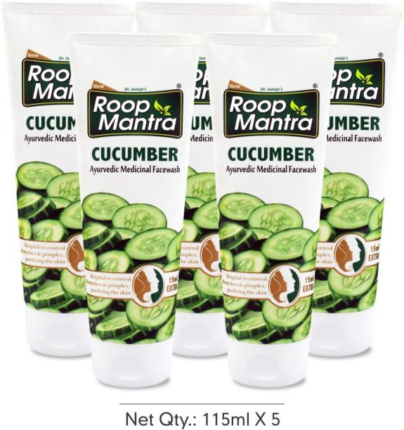 Roop Mantra (Pack of 5) Herbal Cucumber Face Wash