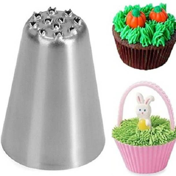 noble foods Stainless Steel Grass Icing Nozzle Decorating Tools and Accessories Stainless Steel Speciality Icing Nozzle