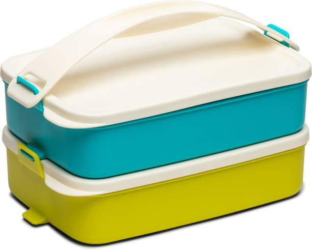 TUPPERWARE Lunch Carrier 2pc 2 Containers Lunch Box