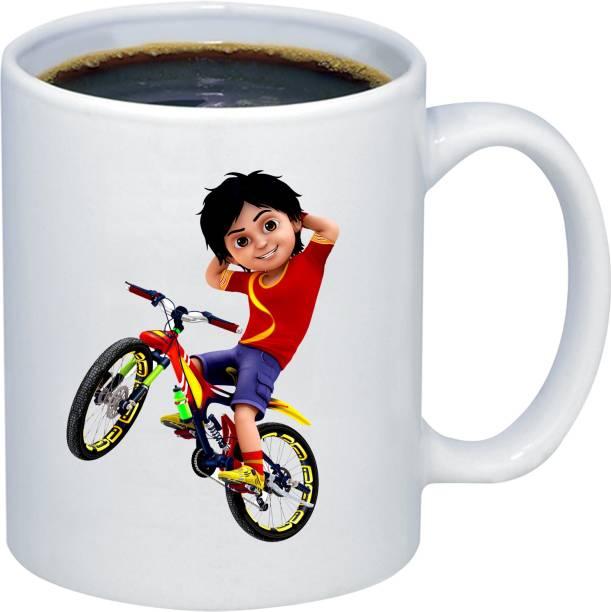 Adi Creations Shiva on Cycle Clipart Designer Coffe Ceramic Coffee Mug
