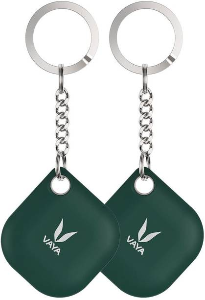 Vaya LYNK Pack of 2 Smart Bluetooth Tracker - Key Finder, Phone Finder, Smart Lost Item Tracker with Replaceable Battery and Key Ring, Color : Green Location Location Smart Tracker