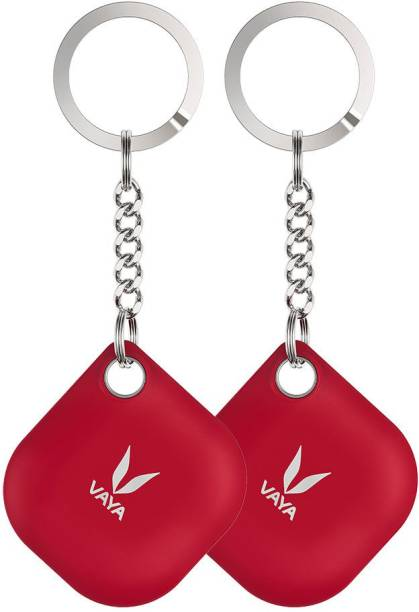 Vaya LYNK Pack of 2 Smart Bluetooth Tracker - Key Finder, Phone Finder, Smart Lost Item Tracker with Replaceable Battery and Key Ring, Color : Red Location Location Smart Tracker