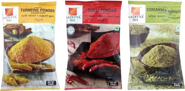 Aaditya 501 Turmeric, Chilli, Coriander Powder