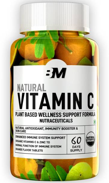 BIGMUSCLES NUTRITION Natural Vitamin C Tablets 1000 mg Immunity, Antioxidant, Vegan & Keto Friendly