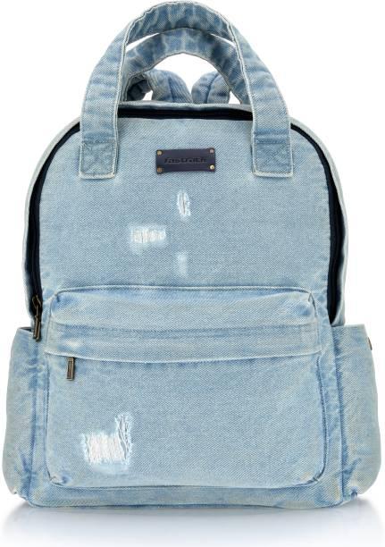 Fastrack Enzyme washed Blue distressed Backpack 9 L Backpack