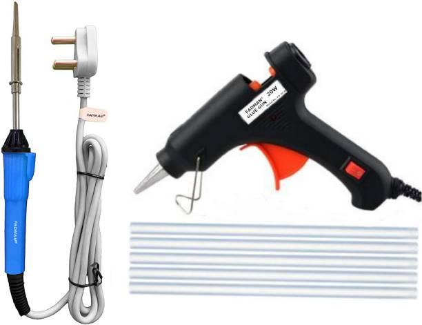 FADMAN Soldering Iron Kit Pack-3   20W Black Glue Gun & 7MM Sticks (5 Pcs)   Grey+Blue Soldering iron 25 W Simple