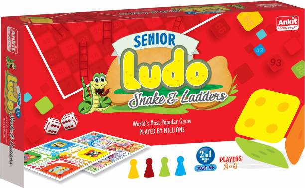 Ankit 2 in 1 Ludo Snakes & Ladder Junior Party & Fun Games Board Game