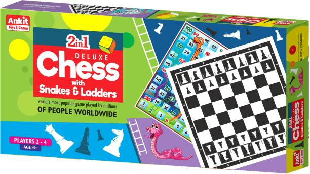 Ankit 2 In 1 Chess Deluxe Board Game Educational Board Games Board Game