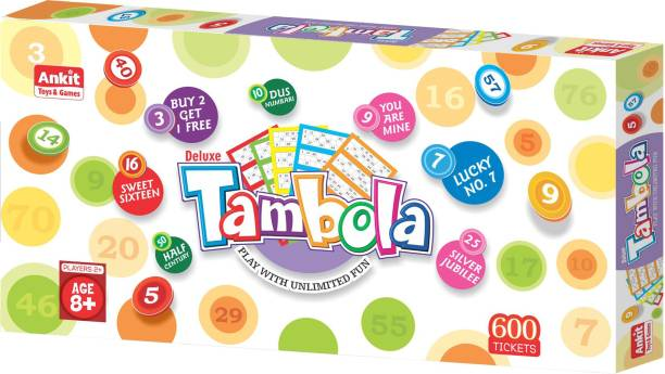 """Ankit BOARD GAME TAMBOLA DELUXE 18"""" Party & Fun Games Board Game"""