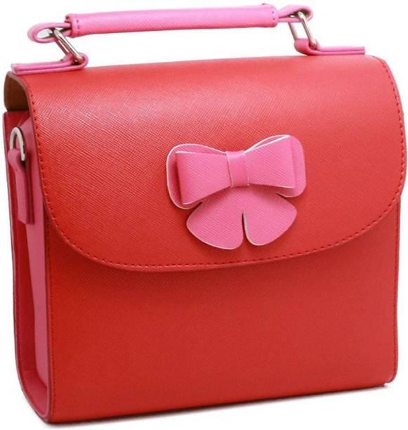 Stela Fujifilm Instax Mini PU Leather Butterfly Design Case (Red)  Camera Bag