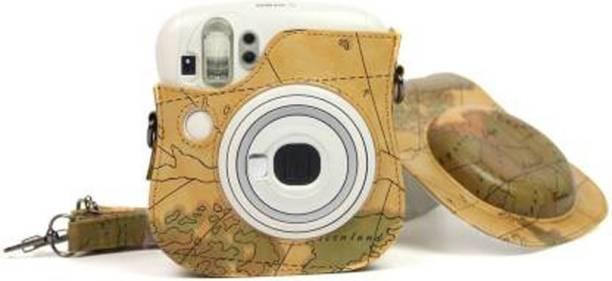 Stela Instax Mini 25 (DT-01) Case Map Brown  Camera Bag