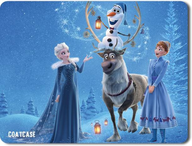 COATCASE MPFZ-028 Frozen Movie Printed Rubber Base with Anti Skid Feature for Computer and Laptop Designer Gaming Mouse pad Mousepad