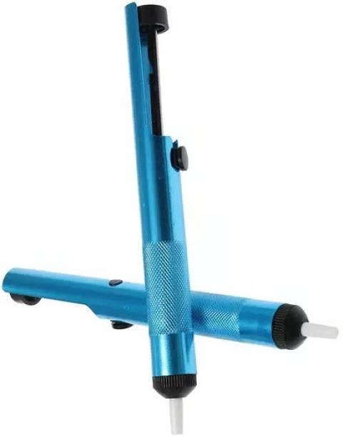 tool trust 2 Pcs Aluminium Solder Sucker Desoldering Pump Tool Suction Tin Pen Removal Device Blue Vacuum Soldering Iron Desolder pack of 2 0 W Simple
