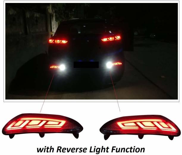 IMMUTABLE Reflector Led Brake Light Bumper(Rear/Back) Drl Compatible With Hyundai I20 Elite t23 Car Reflector Light