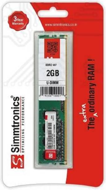 simtronics 2GB DDR2 667 DDR2 2 GB (Single Channel) PC (2GB DDR2 667 DDR2 2 GB (Single Channel) PC (SIMMTRONICS - 2 GB DDR2 667 DESTOP) (Green))