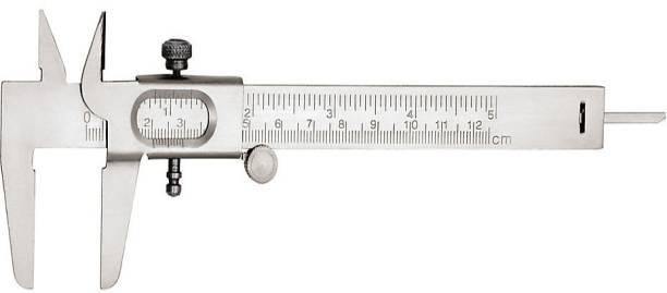 THE LABWORLD calliper 12.5 cm Vernier caliper slide caliper 15 cm long 12.5cm measurement metallic for measurement of round objects and depth. Vernier Caliper