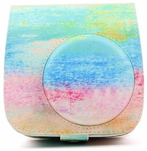 Stela Pu Leather Square (Color painting)  Camera Bag