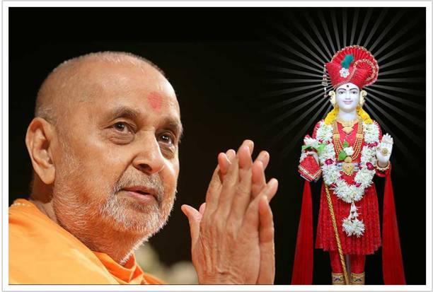 Pramukh Swami Swaminarayan Religious BAPS Paper Poster Paper Print