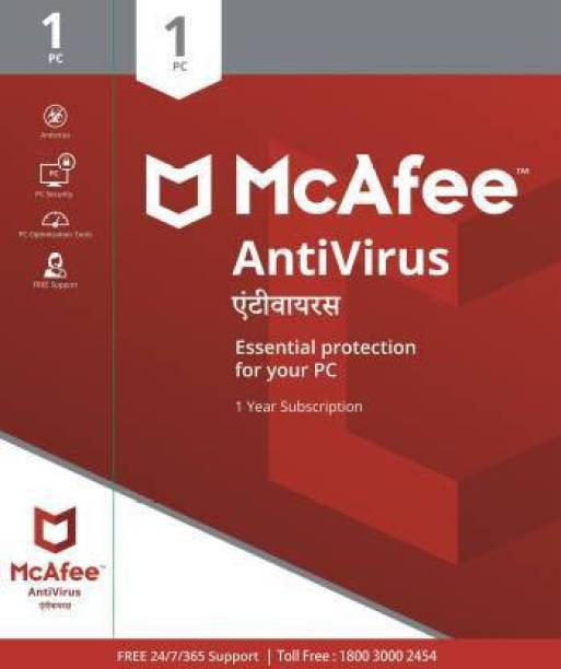 McAfee 1 PC 1 Year Anti-virus (Email Delivery - No CD)