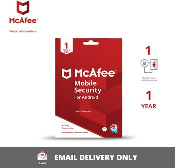 McAfee 1 Device 1 Year Mobile Security for Android (Email Delivery - No CD)