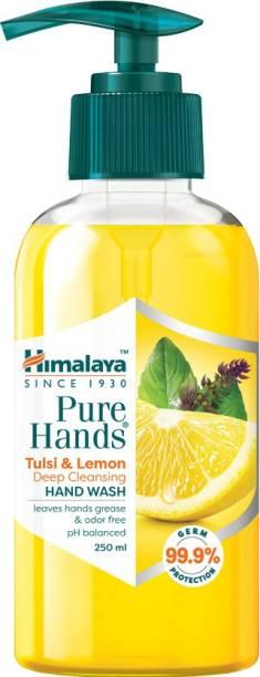 HIMALAYA Pure Hands Tulsi & Lemon Deep Cleansing Hand Wash Pump Dispenser