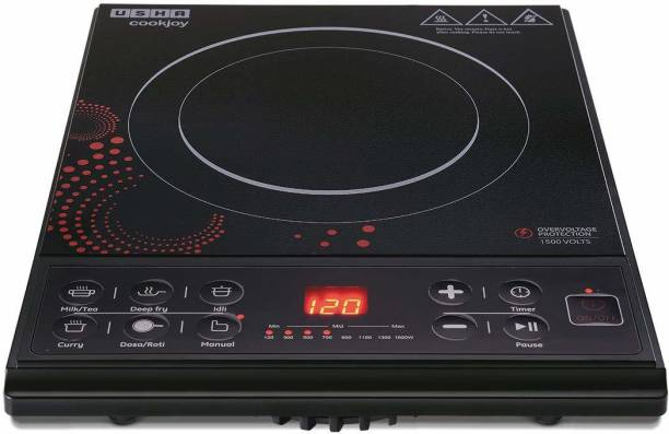 USHA High-Quality 1600W Cook-Joy (3616) Automatic Induction Cooktop