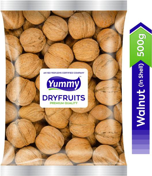 Yummy 100% Natural Premium Quality Inshell Walnut/Akhrot - Value Pack (500 gm) Walnuts
