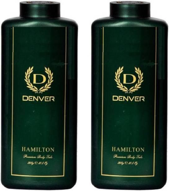 DENVER Hamilton Premium Body Talc Combo (Pack of 2)