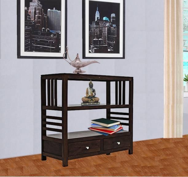 TimberTaste Sheesham Wood Solid Wood Semi-Open Book Shelf