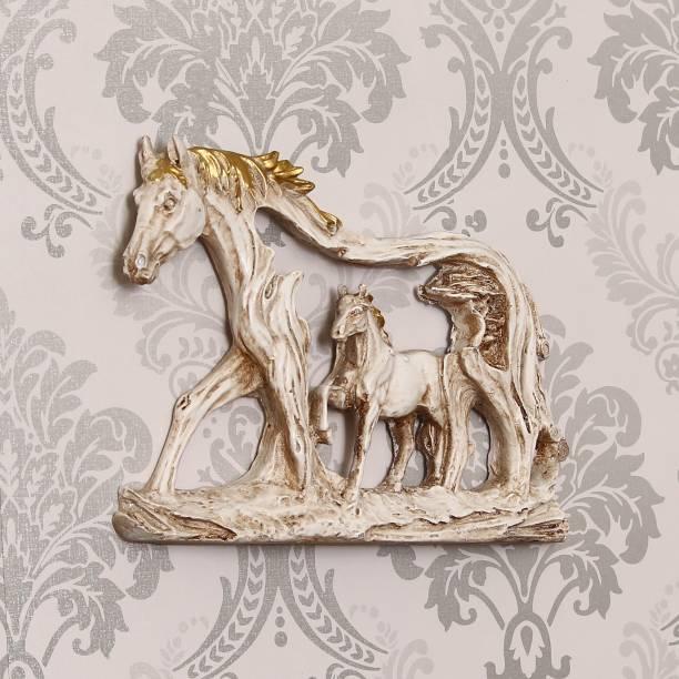Flipkart SmartBuy Decorative Walking Horses Polyresin Wall Hanging Decorative Showpiece  -  27 cm