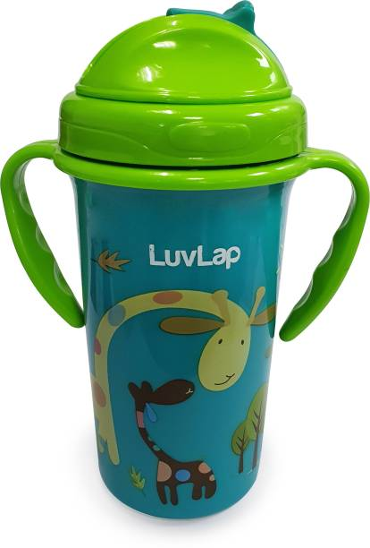 LuvLap Tiny Giffy Sippy Cup, Silicone Straw, BPA Free, 18m+