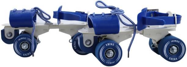 VICKY Gemini Blue Roller Skates Quad Roller Skates - Size 6-11 UK