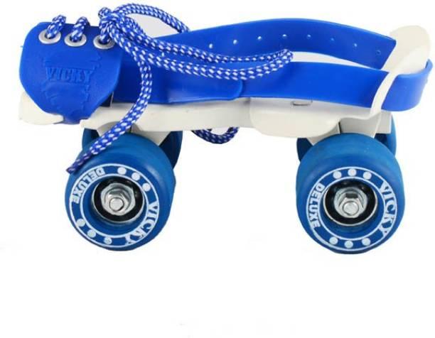 VICKY Baby Blue Roller Skates Quad Roller Skates - Size 4-5 UK