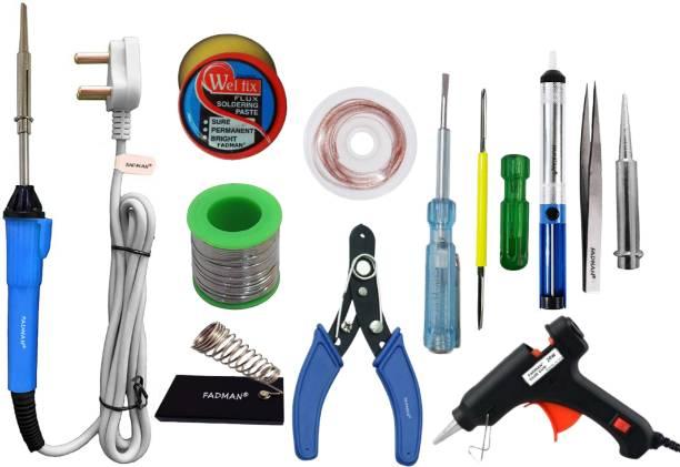 FADMAN Basic Bundle Electric 25W Soldering Iron Kit - Set of 12 25 W Simple