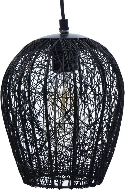 eCraftIndia Black Wire Mesh Pendant Light Pendants Ceiling Lamp
