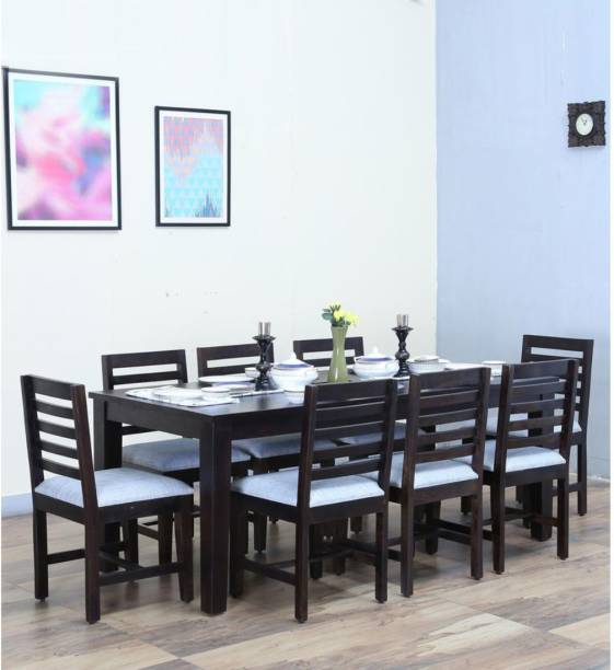 FURINNO Solid Wood 8 Seater Dining Set