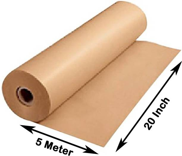 MM WILL CARE GOLDEN CRAFT PAPER Unruled 20 Inch X 5 Meter 150 gsm Paper Roll