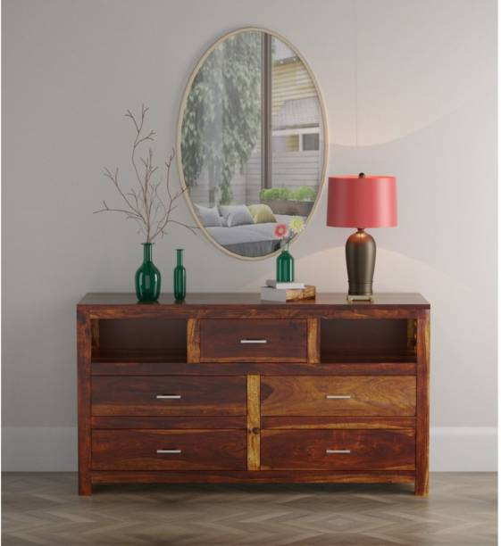 FURINNO Solid Wood TV Entertainment Unit