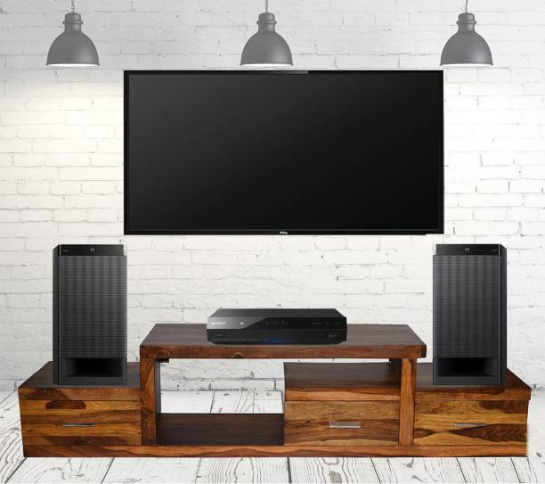 TimberTaste Sheesham Wood Solid Wood TV Entertainment Unit