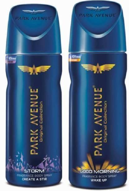 PARK AVENUE Storm and Cool Blue Deodorant Body Spray  -  For Men